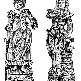 Victorian Bisque Figures ~ Free Clip Art