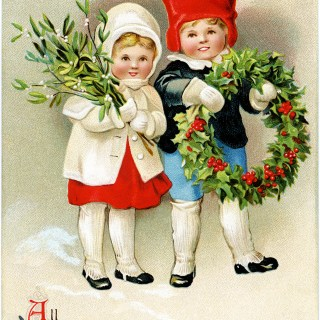 Clapsaddle Christmas Postcard ~ Free Vintage Image