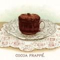 hot chocolate illustration, vintage cocoa illustration, old fashioned cocoa recipe, chocolate dessert clip art, vintage chocolate image