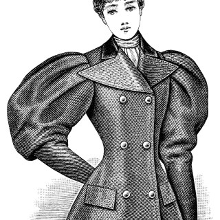 Victorian Ladies' Jacket ~ Free Vintage Clip Art