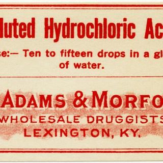 Vintage Hydrochloric Acid Label ~ Free Clip Art