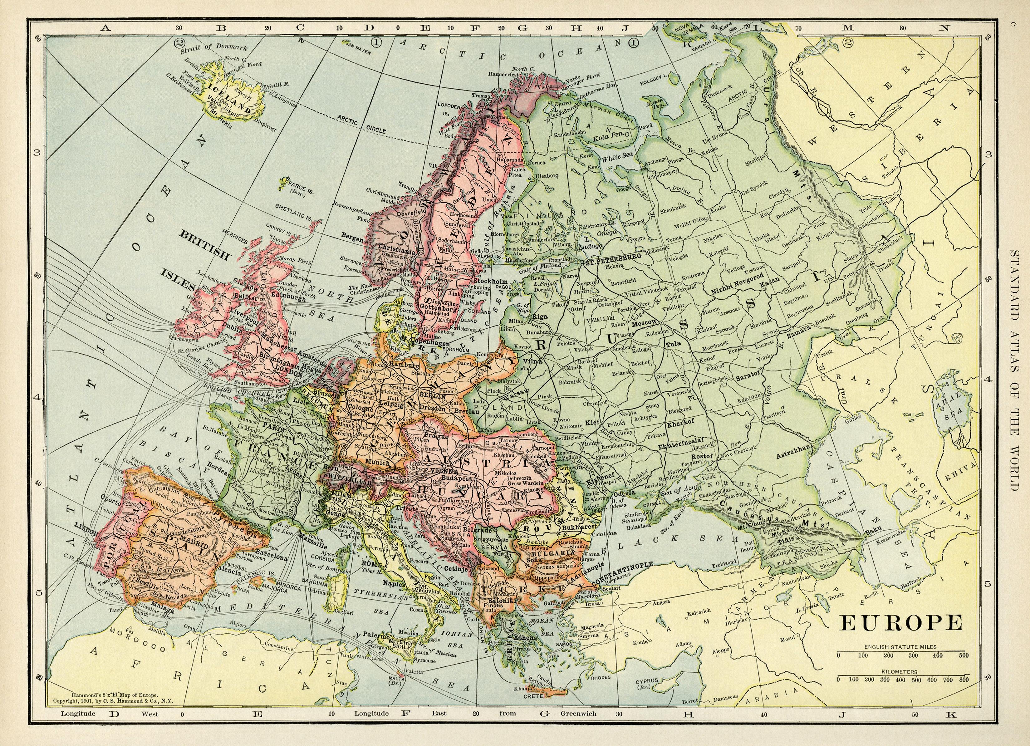 Map Of Europe Free Vintage Image Old Design Shop Blog