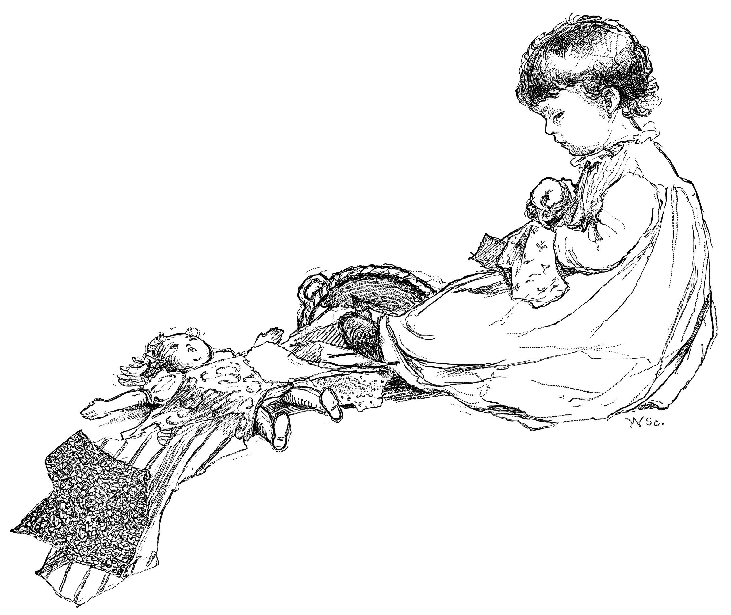 Little Penelope S Sewing Free Vintage Clip Art