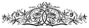 vintage swirl clip art, black and white clipart, ornamental design graphics, antique flourish illustration, fancy border digital stamp