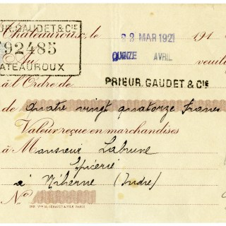 Vintage French Cheque ~ Free Digital Graphic