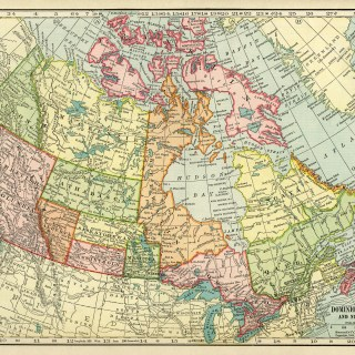 Map of Canada ~ Free Vintage Image
