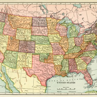 Antique Map of United States ~ Free Image