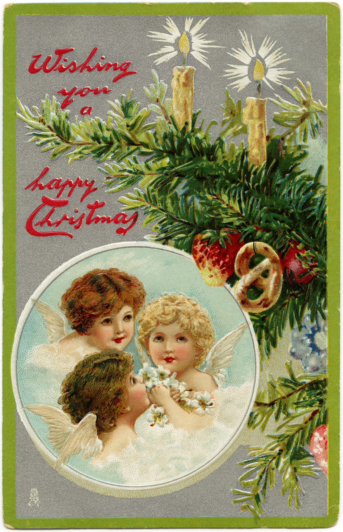 Three Angels ~ Free Vintage Christmas Graphic | Old Design ...