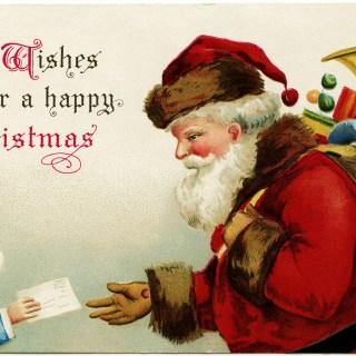 Letter for Santa ~ Clapsaddle Postcard Image