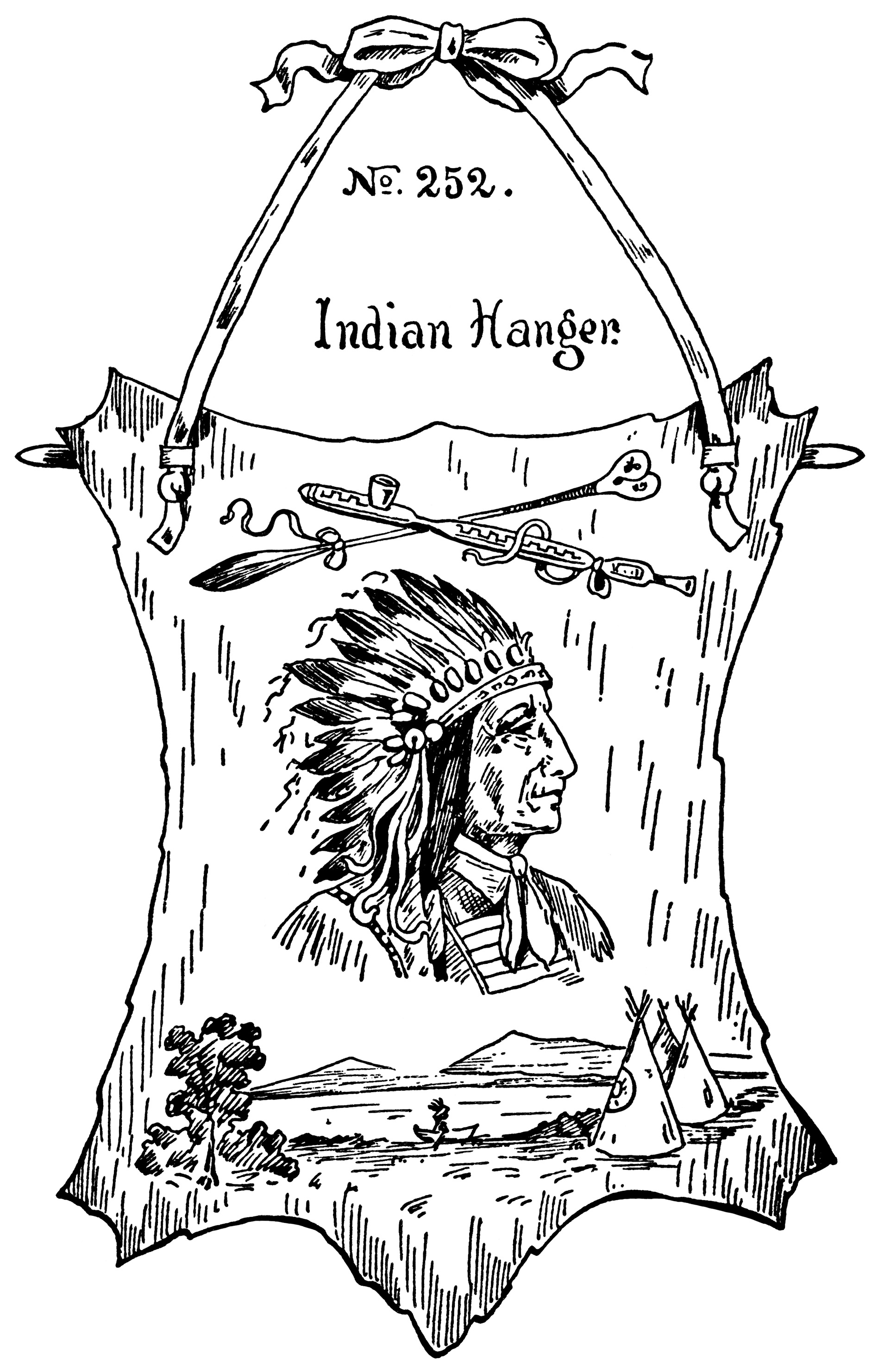 Indian Chief Free Vintage Clip Art
