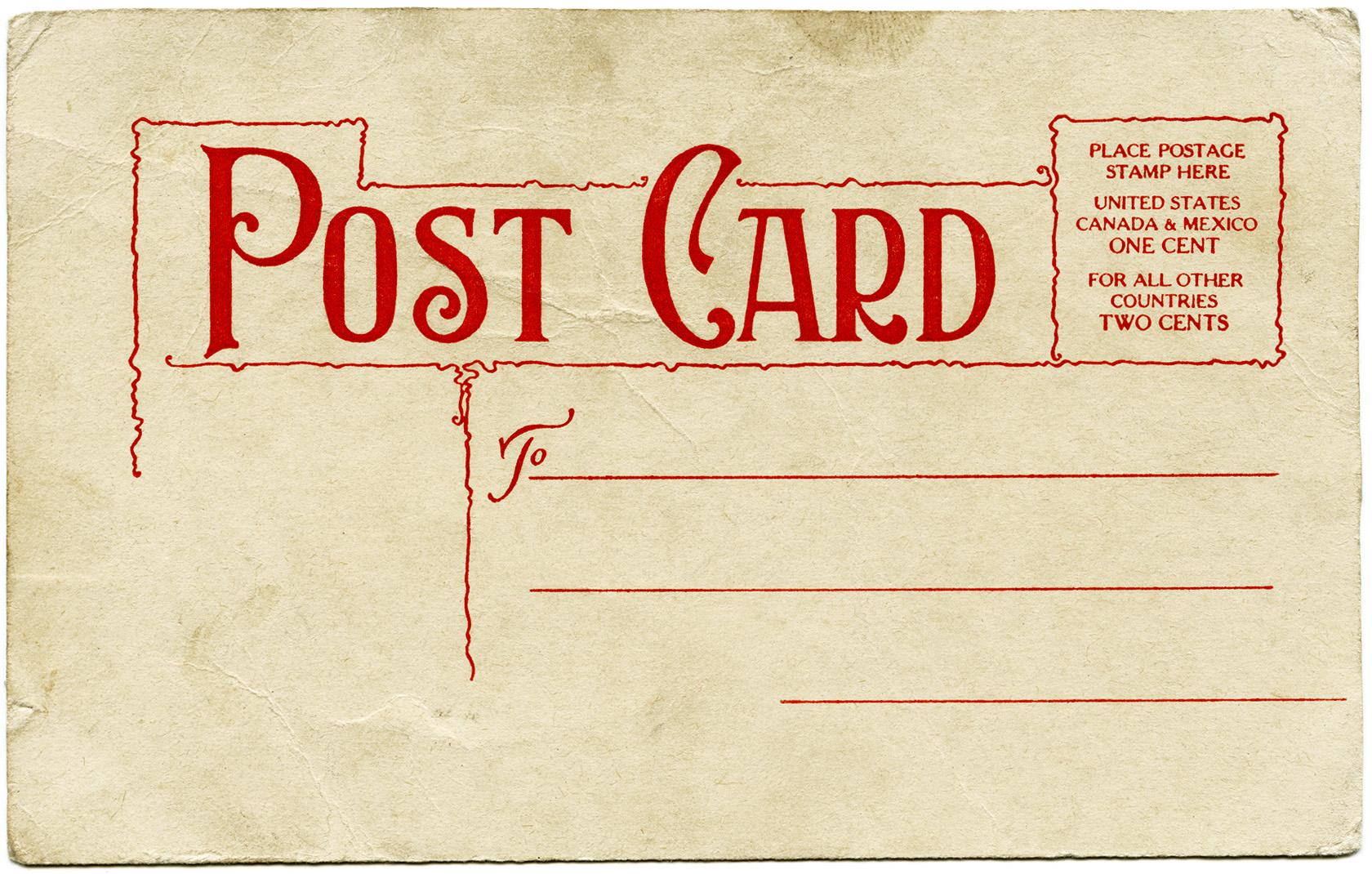 Vintage Postcard Ephemera Christmas