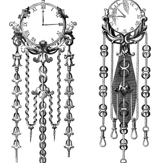 Victorian Clocks ~ Free Clip Art