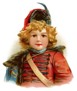 Victorian boy clip art, little drummer boy, up to date blueing, vintage advertising card, vintage Christmas graphics, Victorian boy in uniform illustration