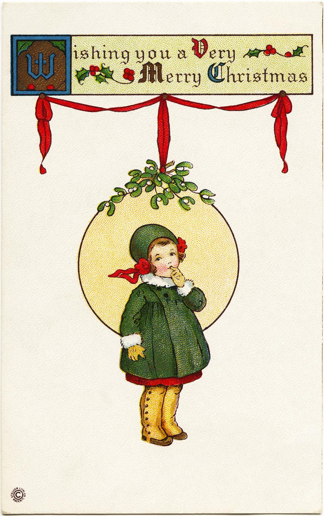 Victorian Girl Stecher Postcard Old Design Shop Blog