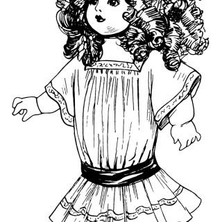 Vintage Dolls ~ Free Clip Art