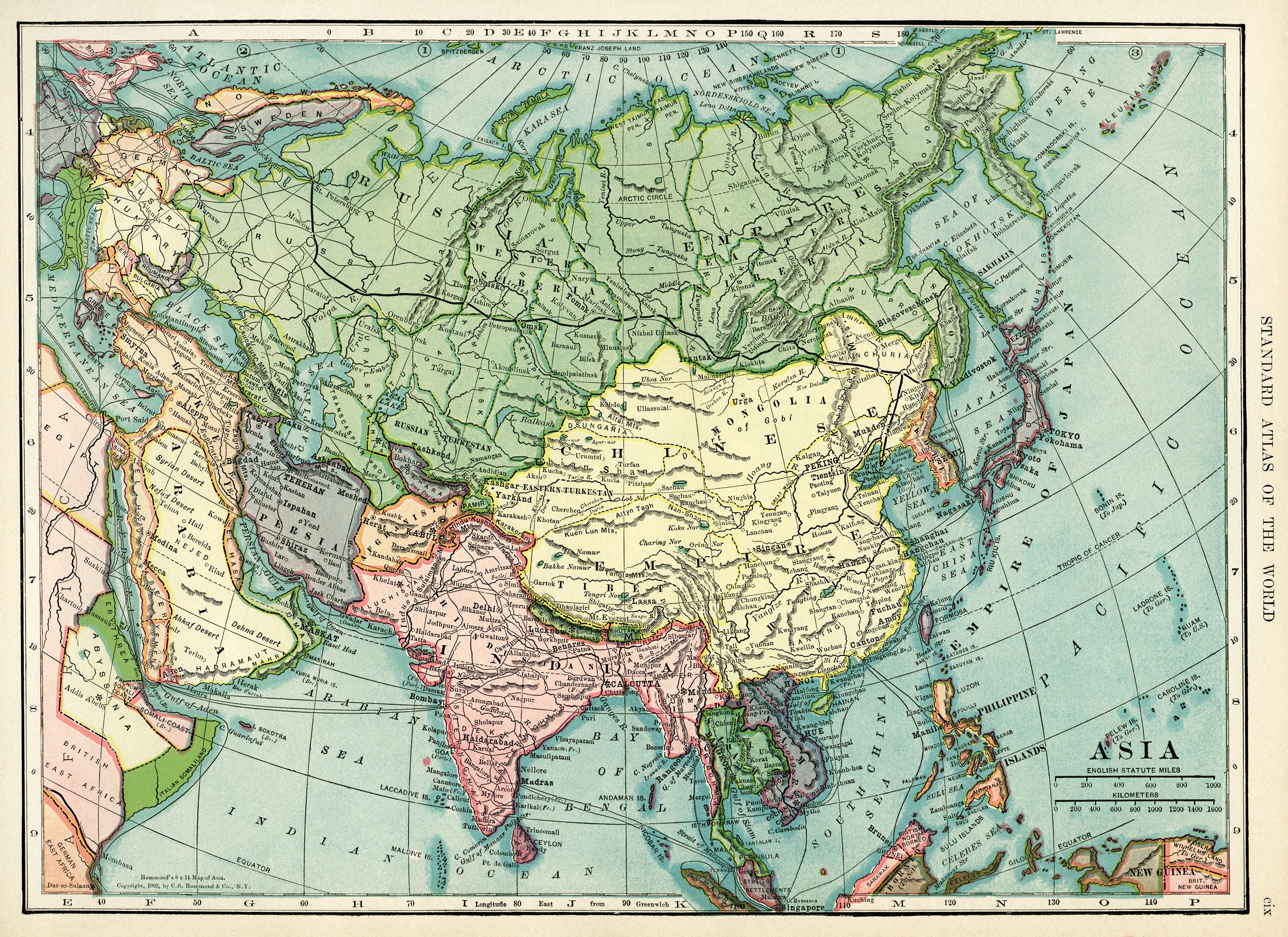 Map Of Asia Free Vintage Image