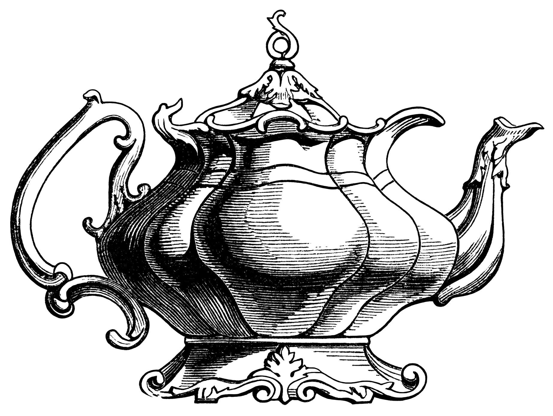 Elegant Victorian Tea Pots