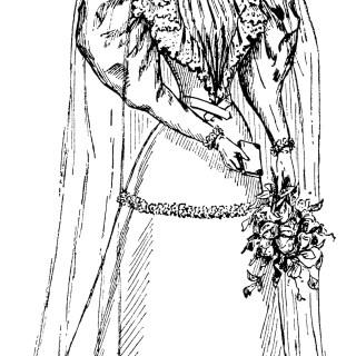 Vintage Bride Clip Art