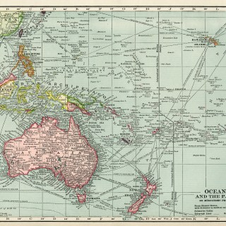 Oceania and the Pacific Vintage Map