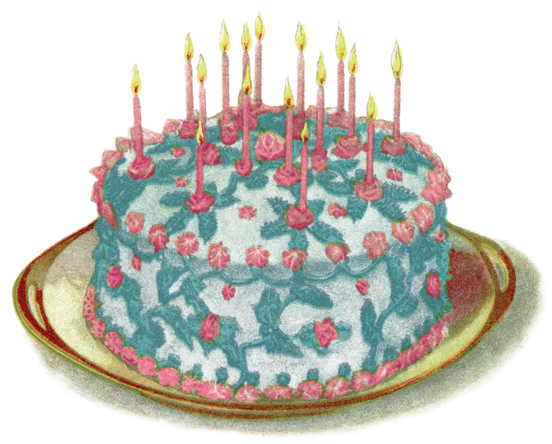 Cake Fillings And Frostings ~ Free Vintage Clip Art
