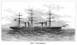 vintage ship clip art, black and white graphics, sea clipart engraving, the tennessee ship, old fashioned ship illustration