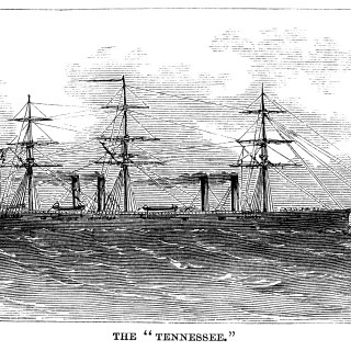 The Tennessee Vintage Ship Engraving