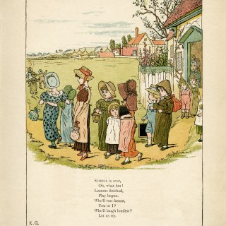 School is Over by Kate Greenaway