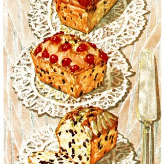 Vintage Cake Clip Art and Recipes