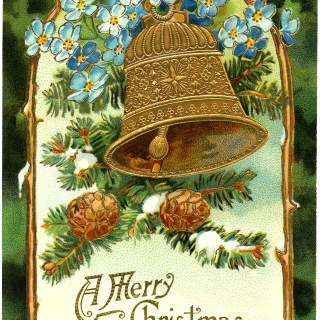 Vintage Christmas Bell Postcard