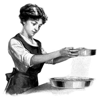 Young Woman Cooking Clip Art