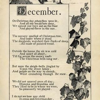December by K. Pyle ~ Vintage Poem