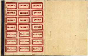 vintage canning, canning label, cherry, blackberry, quince, kitchen ephemera, jar label, vintage preserve label