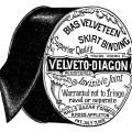 Appleton's skirt binding, vintage sewing, vintage advertisement, black and white graphics, sewing clip art, halls bazar form co