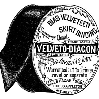 Appleton's Bias Velveteen Binding