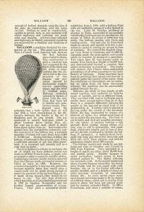 old fashioned hot air balloon