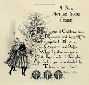 Christmas poem, new mother goose jingle, vintage Christmas, Christmas clip art, printable Christmas