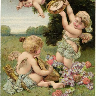Playful Valentine Cherubs