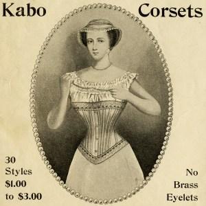 Free Victorian clip art Kabo corset advertisement