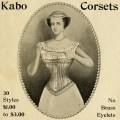 Free Victorian clip art Kabo corset advertisement
