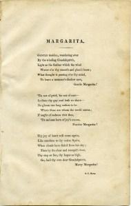 Free Printable Antique Poem Margarita Aged Grunge Page