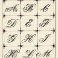 ornamental typography, vintage alphabet, fancy alphabet, Victorian penmanship, initial script