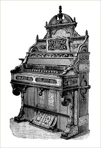 free vintage beatty's organ clip art