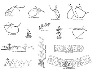 free vintage printable embroidery stitches clip art