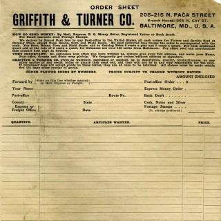 Free Vintage Printable Aged Order Form