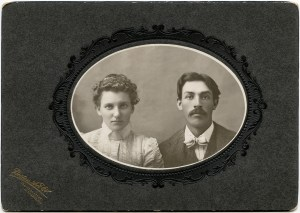 free Victorian printable cabinet card sepia photograph couple