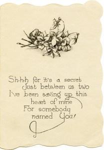 free vintage clip art valentine verse