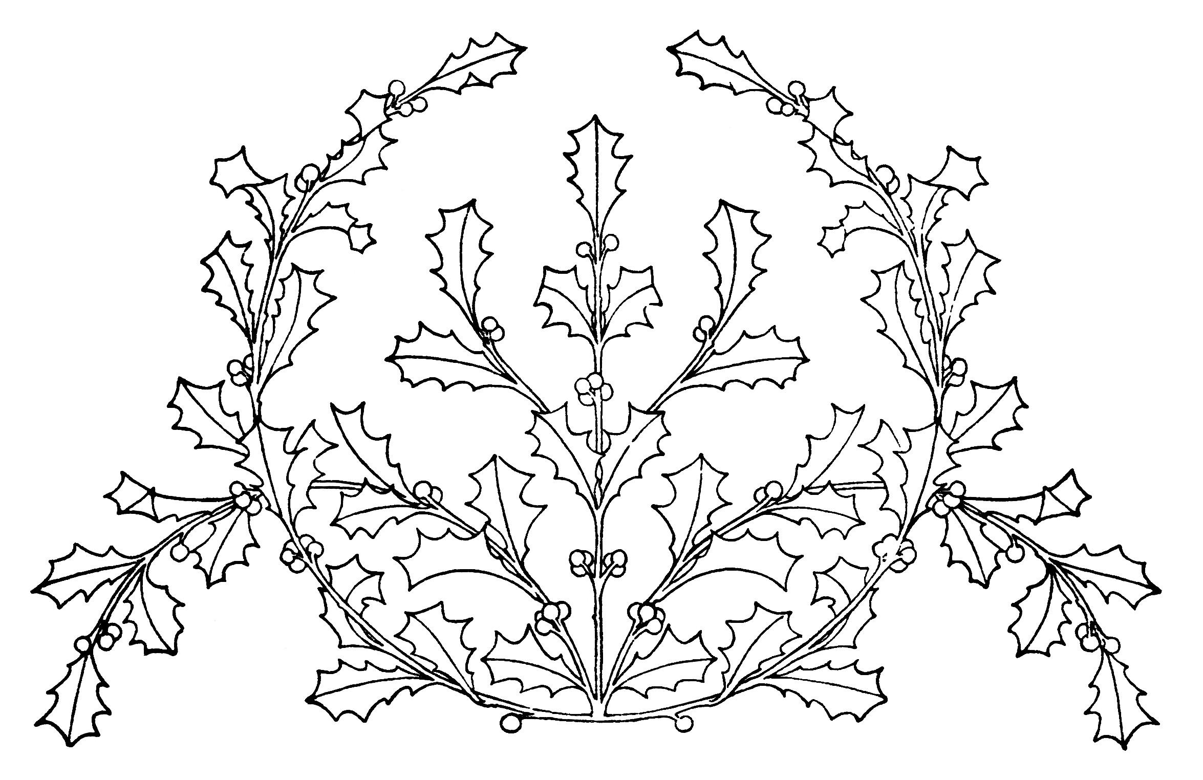 Holly And Mistletoe Vintage Christmas Designs
