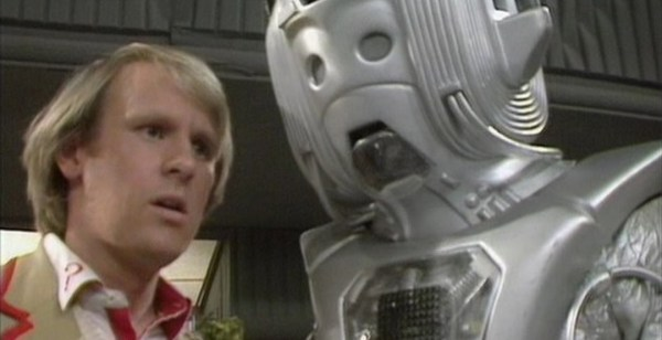 "Cyber leader debates the futile human emotional condition with the Fifth Doctor, in ""Earthshock"" - 1982."