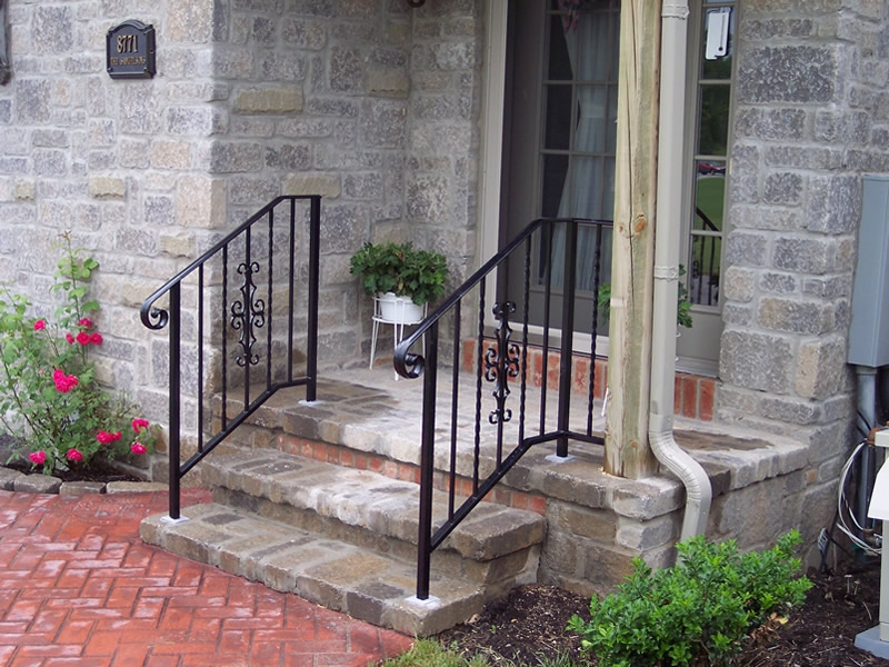 Aluminum Railings Old Dutchman S Wrought Iron Inc   Wrought Iron Handrails For Outside Steps   Stair Covering   Front Porch   Metal