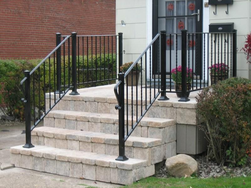 Aluminum Railings Old Dutchman S Wrought Iron Inc | Iron Handrails For Outside Steps | Railing Systems | Front Porch | Aluminum Railing | Deck Railing